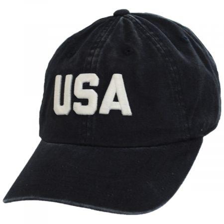 American Needle USA Raglan Strapback Baseball Cap