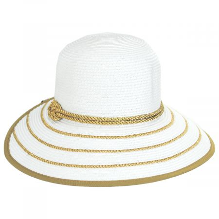 Metallic Sailor Knot Toyo Straw Facesaver Hat
