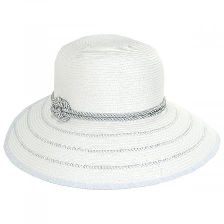 Metallic Sailor Knot Toyo Straw Facesaver Hat alternate view 5