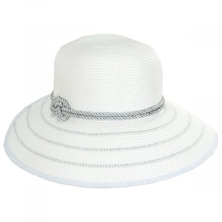Jeanne Simmons Metallic Sailor Knot Toyo Straw Facesaver Hat