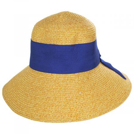 Jeanne Simmons Big Bow Braided Toyo Straw Sun Hat