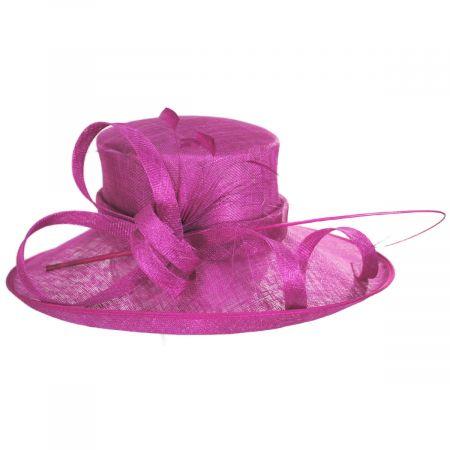 Scala Seregenti Sinamay Straw Dress Hat