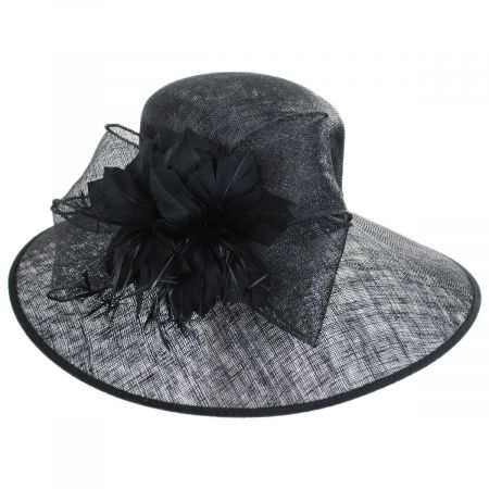 Restless Rider Sinamay Straw Boater Hat
