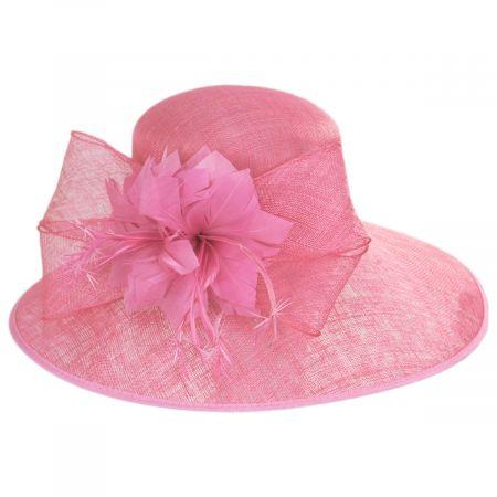 Scala Restless Rider Sinamay Straw Boater Hat