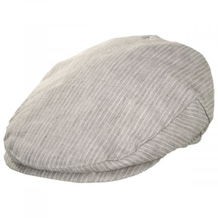 Stefeno Slim Striped Linen Ivy Cap
