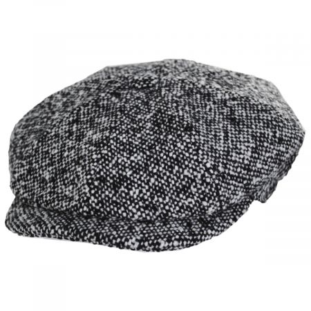 Skully Marl Tweed Wool Newsboy Cap alternate view 5