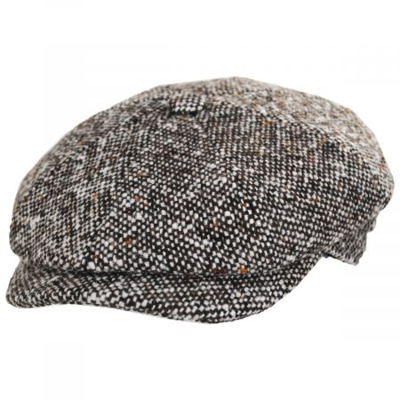 Stefeno Skully Marl Tweed Wool Newsboy Cap