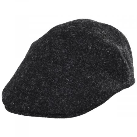 Stefeno Boris Harris Tweed Wool Ascot Cap - Charcoal