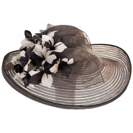 Flor Dela Mar Sinamay Straw Wide Brim Boater Hat alternate view 5