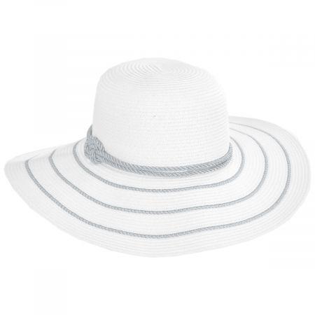 Metallic Sailor Knot Striped Straw Sun Hat alternate view 5