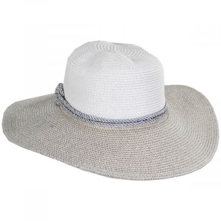 Jeanne Simmons Two Tone Sailor Knot Straw Sun Hat