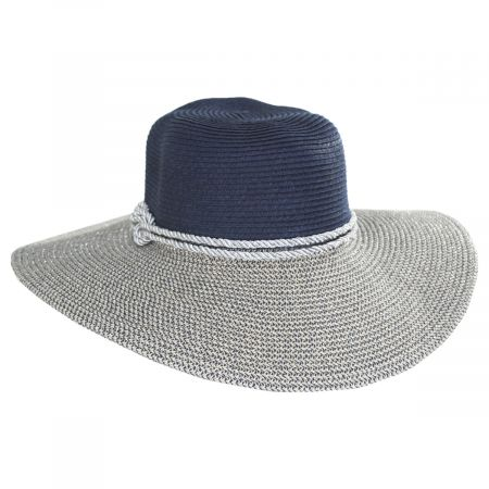 Two Tone Sailor Knot Straw Sun Hat