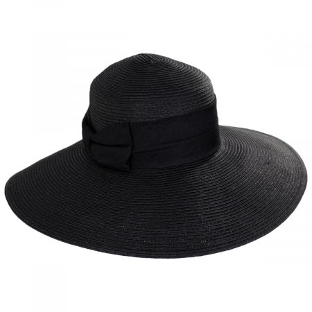 Jeanne Simmons Braided Toyo Straw Wide Brim Sun Hat