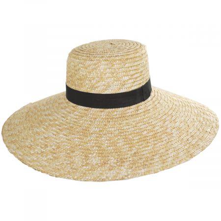 Braided Straw Lampshade Sun Hat