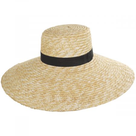 Jeanne Simmons Braided Straw Lampshade Sun Hat