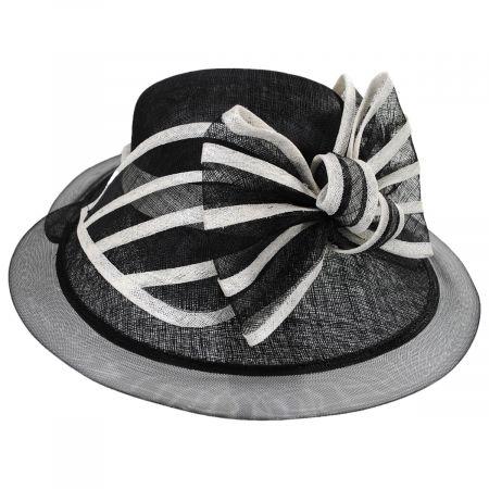Scala Jeltrim Sinamay Straw Big Brim Swinger Hat