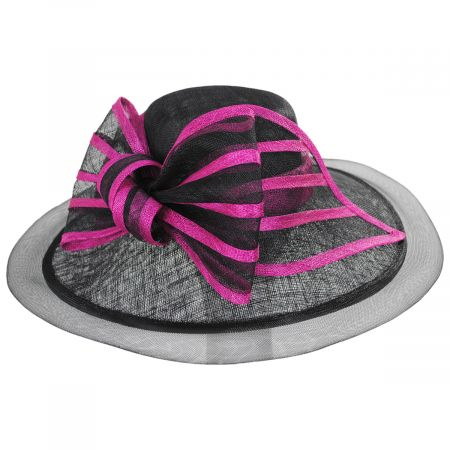 Jeltrim Sinamay Straw Big Brim Swinger Hat