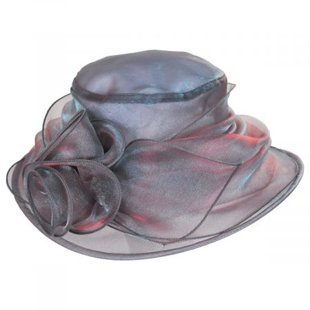 Improbable Iridescent Organza Lampshade Hat alternate view 9
