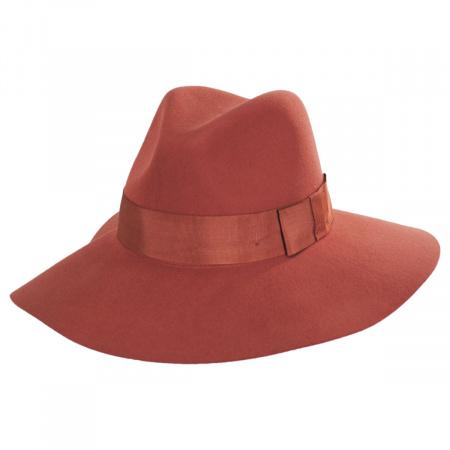 Piper Terra Cotta Wool Felt Floppy Fedora Hat