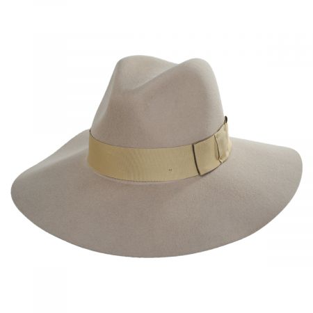 Brixton Hats Piper Putty Wool Felt Floppy Fedora Hat