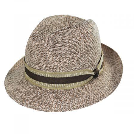 Monet Tweed Straw Braid Fedora Hat alternate view 5