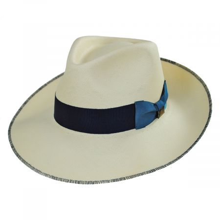 Biltmore Dega Shantung Straw Fedora Hat