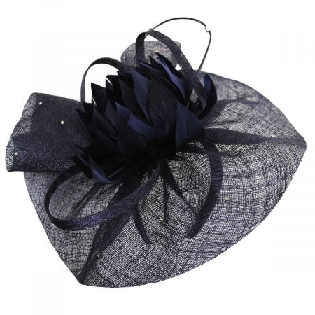 Prestonia Rhinestone Sinamay Straw Fascinator Headband alternate view 5