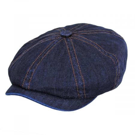 Texas Denim Cotton Newsboy Cap alternate view 9