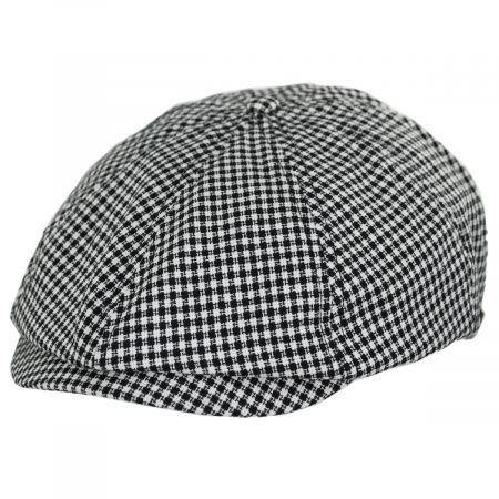 Brood Plaid Cotton Newsboy Cap