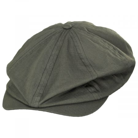 Brixton Hats Brood Solid Ripstop Cotton Newsboy Cap