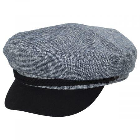 Brixton Hats Tweed Cotton Linen Blend Fiddler Cap