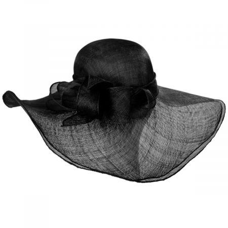 Kentucky Derby Beechmont Sinamay Straw Swinger Hat