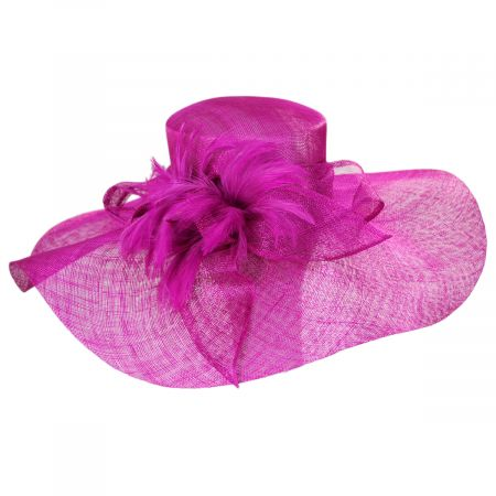 Wyandotte Sinamay Straw Boater Hat