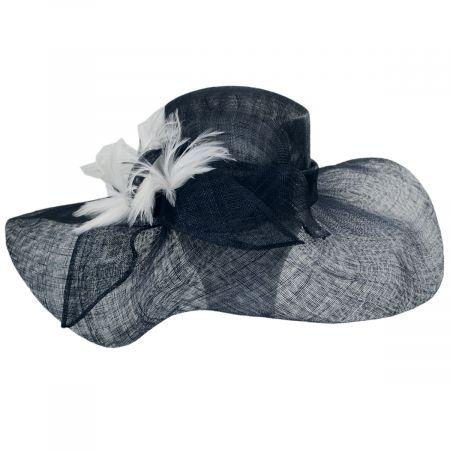 Kentucky Derby Wyandotte Sinamay Straw Boater Hat