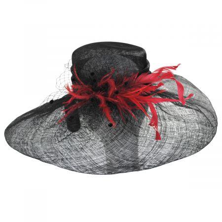 Kentucky Derby Hazelwood Sinamay Straw Swinger Hat