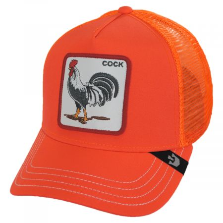 Big Strut Orange Mesh Trucker Snapback Baseball Cap