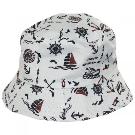 Kids' Nautical Reversible Cotton Bucket Hat