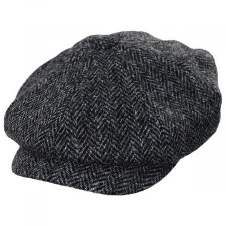 Carloway Harris Tweed Wool Herringbone Newsboy Cap alternate view 17