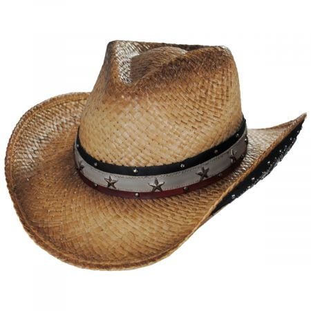 Kenny K Star Spangled Toyo Straw Western Hat