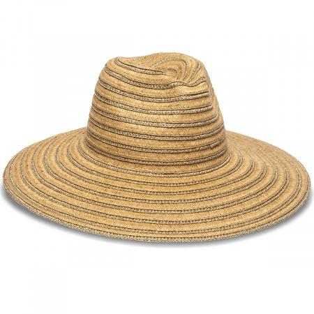 Physician Endorsed Hamilton Toyo Straw Metallic Fedora Hat