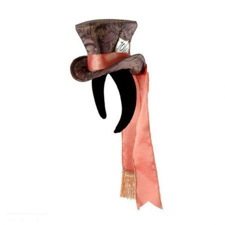 Disney Alice in Wonderland Mad Hatter Top Hat Fascinator Headband