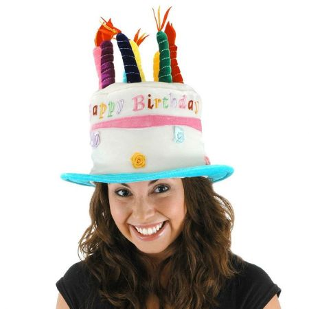 Rose Birthday Cake Hat - Adult