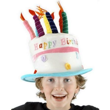 Rose Birthday Cake Hat - Child