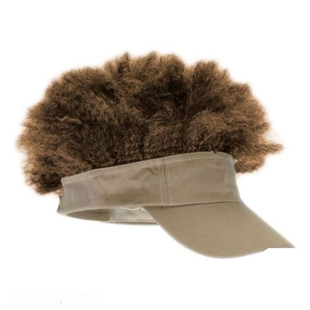 Tan Visor with Afro