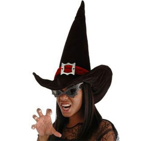 Witch Hat with Band and Buckle