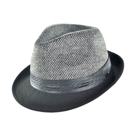 Geoffrey Beene New Yorker Two Tone Fedora Hat