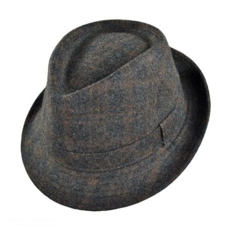 Geoffrey Beene Plaid C-Crown Fedora Hat