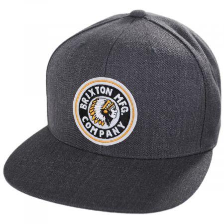 Brixton Hats Rival Charcoal Snapback Baseball Cap