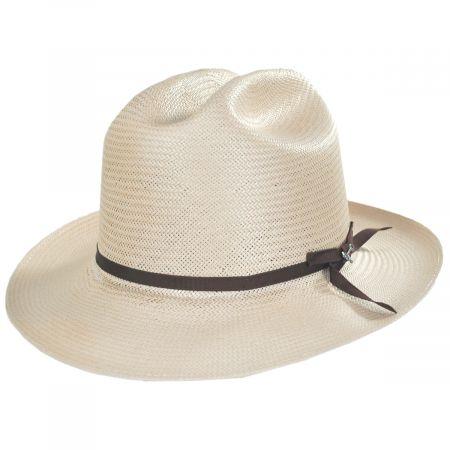 Open Road Shantung Straw Western Hat