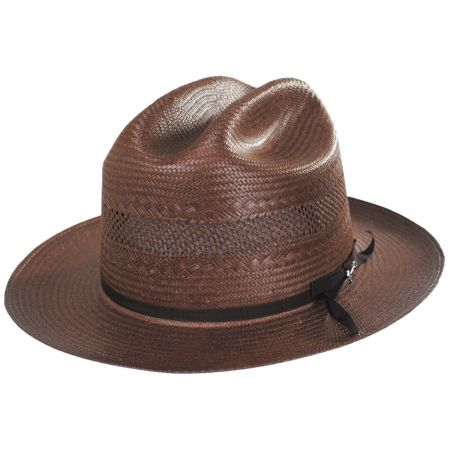 Open Road Vented Shantung Straw Western Hat